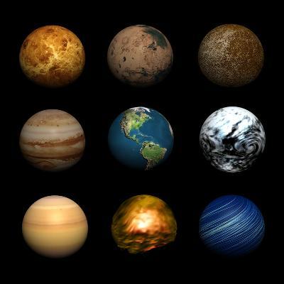 Planets-Stephen Coburn-Photographic Print