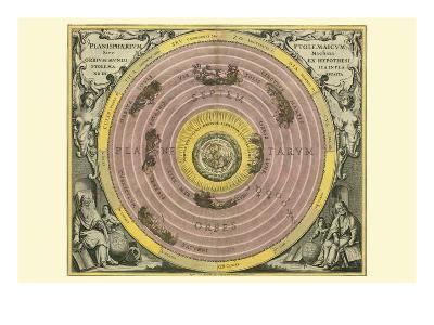 Planisphaerium Ptolemaicum-Andreas Cellarius-Art Print