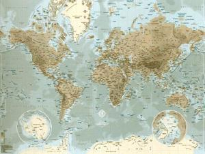 World maps artwork for sale posters and prints at art rand mcnally signature world map giant poster 2699 planisphre gumiabroncs Images