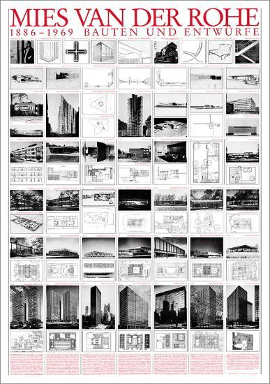 Planned and Unfinished Buildings-Mies Van Der Rohe-Art Print
