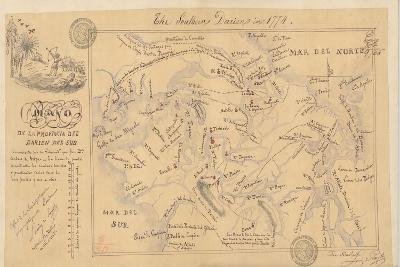 Plano De La Provincia Del Darien, 1774-Lucien de Puydt-Giclee Print