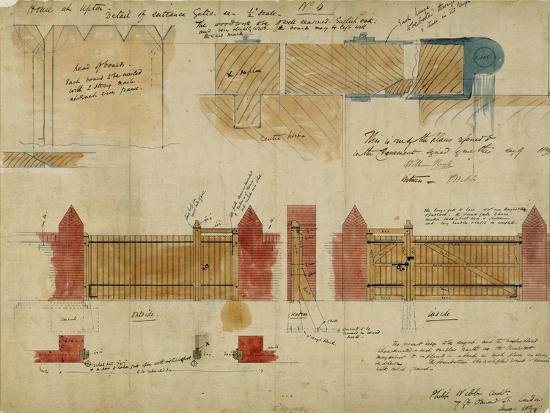 Plans and Elevations for the Red House, Bexley Heath, 1859-Philip Webb-Giclee Print