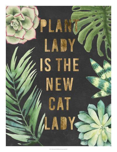 Plant Gold I-Julie Silver-Giclee Print