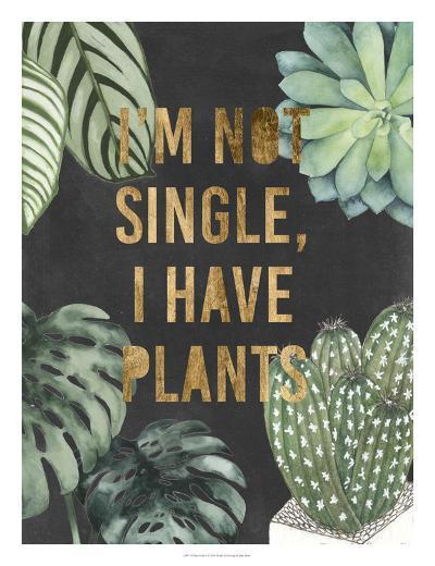 Plant Gold V-Julie Silver-Giclee Print