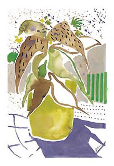 Plant Outline I-Lola Soto-vicario-Art Print