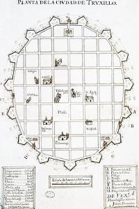 Planta de La La Ciudad de Trujillo Del Perú, 1687, Archivo de Indias, Sevilla