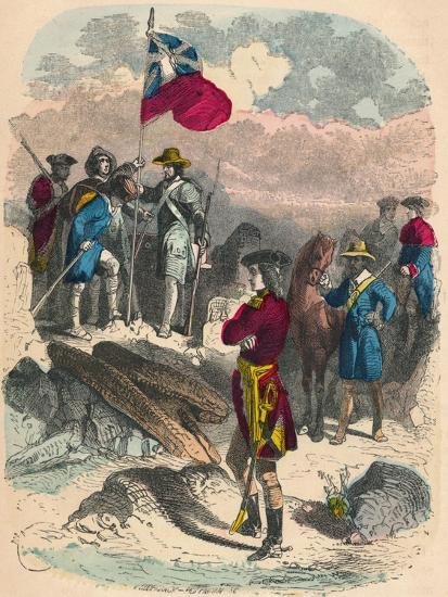 Planting of the Royal Flag on the Ruins of Fort Du Quesne, 1758-Unknown-Giclee Print