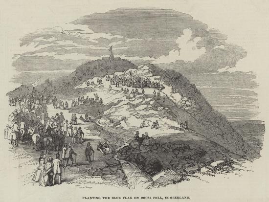 Planting the Blue Flag on Cross Fell, Cumberland--Giclee Print