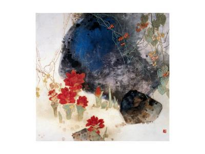 Plants by the Rocks-Minrong Wu-Giclee Print