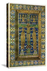 Plaque Binding (Plaque De Reliur), Champlevé Enamel on Copper, 13th Century