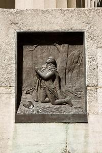 Plaque Entitled Washington at Valley Forge Outside the Federal Hall National Memorial