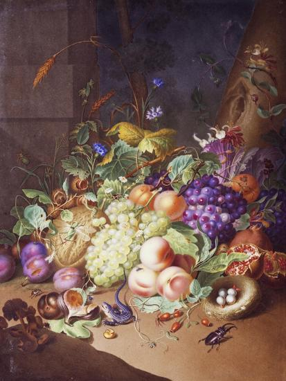 Plaque with Still Life--Giclee Print