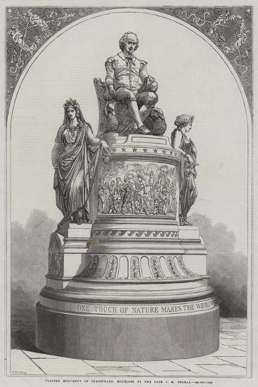 Plaster Monument of Shakespeare, Modelled by the Late J E Thomas-R. Dudley-Giclee Print