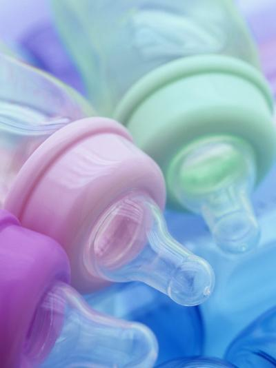 Plastic Baby Bottles, Polycarbonate, Petroleum Product-Wally Eberhart-Photographic Print