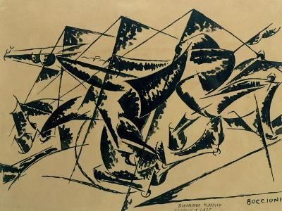 Plastic Dynamism: Horse and Houses, 1914-Umberto Boccioni-Giclee Print