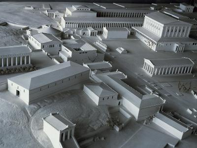 Plastic Model of Acropolis in Athens, Greece--Giclee Print