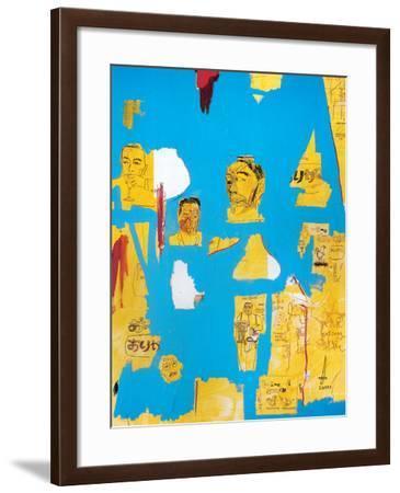 Plastic Sax-Jean-Michel Basquiat-Framed Giclee Print