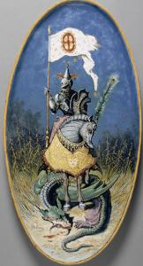 Plat : Chevalier au dragon