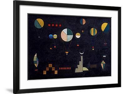Plat-Profond, 1930-Wassily Kandinsky-Framed Art Print