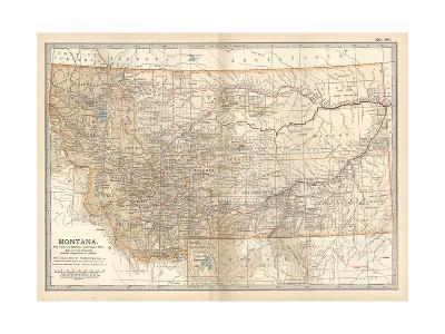 Plate 107. Map of Montana. United States-Encyclopaedia Britannica-Giclee Print