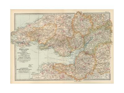Plate 11. Map of England and Wales-Encyclopaedia Britannica-Giclee Print