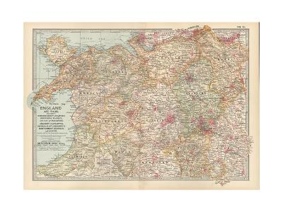 Plate 12. Map of England and Wales-Encyclopaedia Britannica-Giclee Print