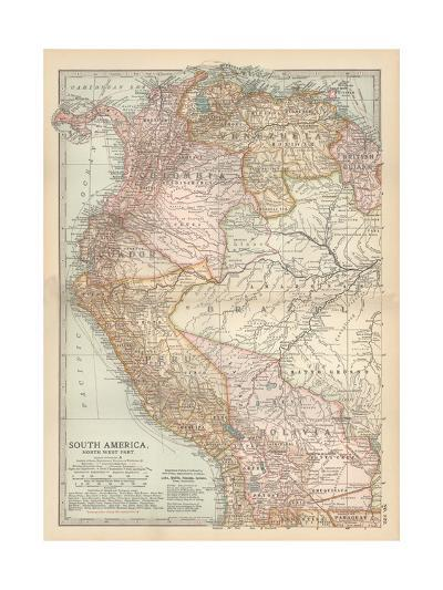 Plate 122. Map of South America-Encyclopaedia Britannica-Giclee Print