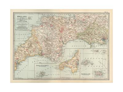 Plate 13. Map of England-Encyclopaedia Britannica-Giclee Print