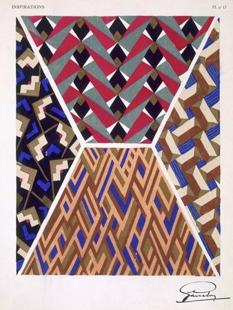 Plate 17, from 'Inspirations', Published Paris, 1930S (Colour Litho)- Gandy-Giclee Print