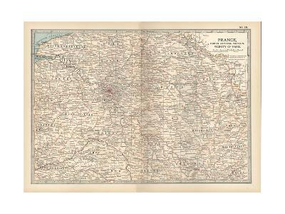 Plate 19. Map of France-Encyclopaedia Britannica-Giclee Print