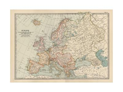 Plate 2. Map of Europe-Encyclopaedia Britannica-Giclee Print