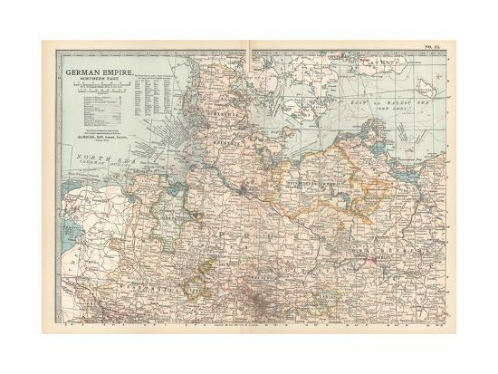 Plate 22. Map of the German Empire-Encyclopaedia Britannica-Giclee Print
