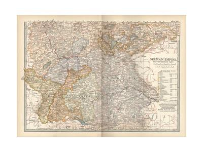 Plate 23. Map of the German Empire-Encyclopaedia Britannica-Giclee Print