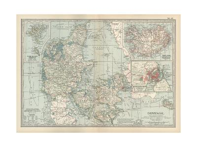 Plate 25. Map of Denmark. Insets of Iceland-Encyclopaedia Britannica-Giclee Print