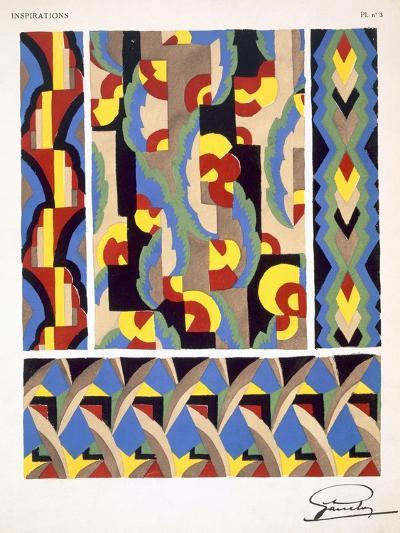 Plate 3, from 'Inspirations', Published Paris, 1930S (Colour Litho)- Gandy-Giclee Print