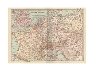 Plate 3. Travel Map of Central Europe-Encyclopaedia Britannica-Giclee Print