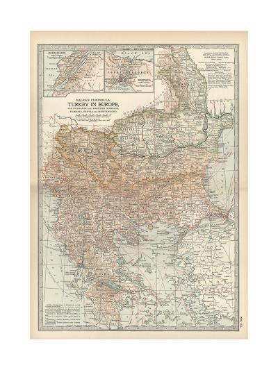 Plate 35. Map of Turkey in Europe-Encyclopaedia Britannica-Giclee Print