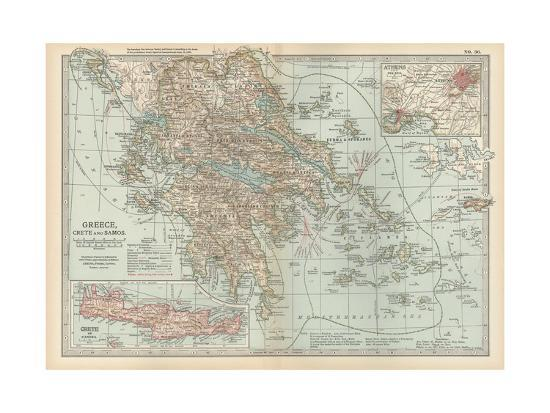 Plate 36. Map of Greece-Encyclopaedia Britannica-Giclee Print