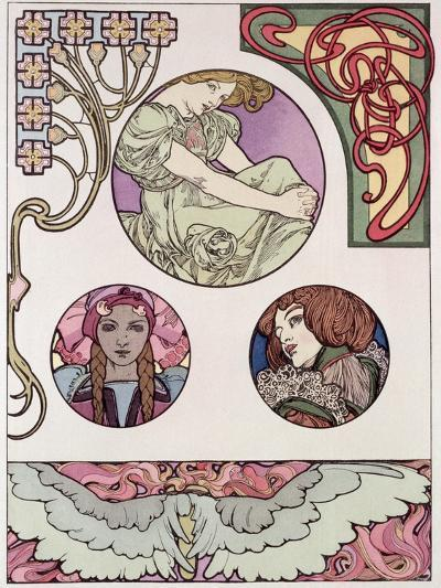 Plate 46 from 'Documents Decoratifs', 1902-Alphonse Mucha-Giclee Print
