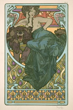 Plate 47 from 'Documents Decoratifs', 1902-Alphonse Mucha-Giclee Print
