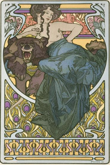 Plate 47 from the Book 'Documents Decoratifs', Published in 1902-Alphonse Mucha-Giclee Print