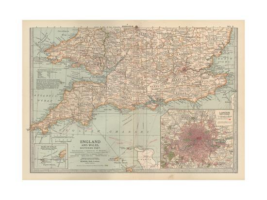 Plate 5. Map of England and Wales-Encyclopaedia Britannica-Giclee Print