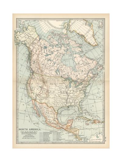 Plate 58. Map of North America. Alaska-Encyclopaedia Britannica-Giclee Print
