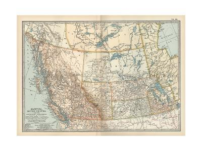 Plate 60. Map of Canada-Encyclopaedia Britannica-Giclee Print