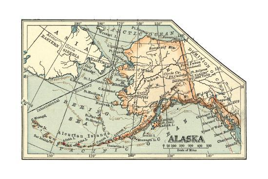 Plate 64. Inset Map of Alaska. United States Giclee Print by Encyclopaedia  Britannica | Art.com