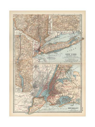 Plate 69. Map of New York State-Encyclopaedia Britannica-Giclee Print