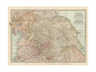 Plate 7. Map of England. Section II. Yorkshire-Encyclopaedia Britannica-Giclee Print