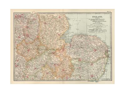 Plate 8. Map of England-Encyclopaedia Britannica-Giclee Print