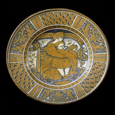 Plate, Ceramic, Deruta Manufacture, Umbria, Italy--Giclee Print