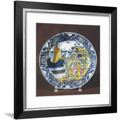 Plate, Ceramic, Faenza Manufacture, Emilia-Romagna, Italy--Framed Giclee Print